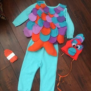 Custom Halloween Costume Fish 4pc Set sz 24mos